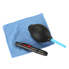 3 in 1 Lens Cleaning Cleaner Dust Pen Blower Cloth Kit For DSLR VCR Came C ty
