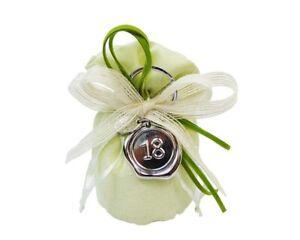 Detalle Belleeek Bolsa Verde Llavero Lacre 18