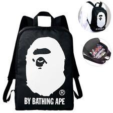 BAPE A BATHING APE Black Backpack Satchel Zipper School Bag Japan Magazine Bag