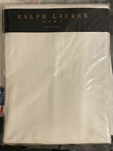 RALPH LAUREN Home 60 x 84 NEW Oval Tablecloth Basketweave Kilimanjaro Off-White