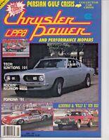 Chrysler Power Magazine May 1991 - Pomona Winternationals - Plymouth Road Runner