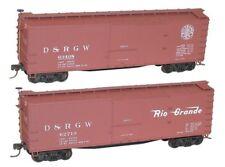 Accurail HO Scale 1219 D&RGW 40' Double Sheath Box Cars 2 Car Set