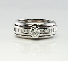 Diamond Ring 14K White Gold Band Vintage Estate
