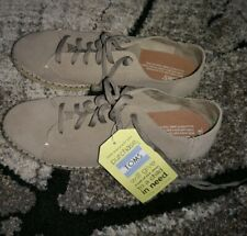 Toms Lena Desert Taupe Suede Shoes Flats Super Soft & Light UK 7 EU 40 ££65