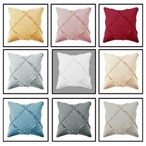 New Modern Quilted Cushion Cover & Filled Cushions Sofa Cushion Pillow Covers