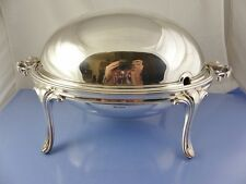PLAIN STERLING ROLL TOP BREAKFAST DISH  SHEFFIELD 1906 JAMES DICKSON RARE