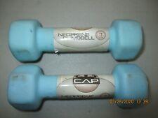 Original CAP Barbell Neoprene Dumbbell PAIR of 3 LB .Blue