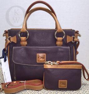 NWT*Dooney & Bourke*GRAPE*Medium Pocket Satchel*Shoulder Bag*& Access.  #16047L