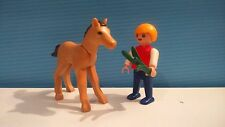 sympa enfant + poulain  playmobil ( maison , equitation , animaux , ferme ) 0507