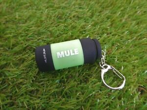 MULE Lime Green USB Rechargeable water resistant inspection torch key-ring EDC