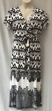 Size 20 Maxi Dress NEW+TAG Stretch Black White Casual Evening Occasion Holiday