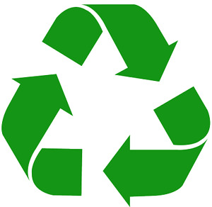 Recycle Logo Wall Window Wheelie Bin Sticker Vinyl Decal Green Black White