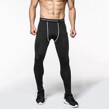 Men Gym Fitness Leggings Compression Base Layer Sports Workout Skin Tight Pants
