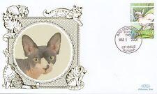 (81180) Guyana Benham FDC Cats - 1 March 2001