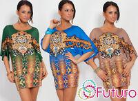 Unique Exclusive Women's Mini Dress Oriental Motive Tunic Kimono Style FC4059