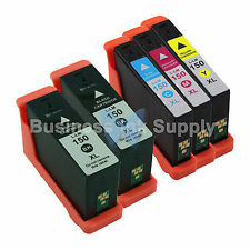 5 PACK 150XL New High Yield Compatible Ink Cartridge for LEXMARK 150XL BK+CMY
