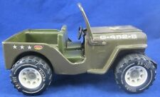 Vintage TONKA TOY JEEP Military US Army 1970s G-452-8 Pressed Metal Plastic