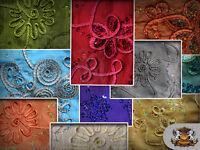 "Taffeta Ribbon Cord Sequin Fabrics / 58"" Wide / Sold by the yard"