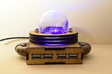 Steampunk USB 2.0 Hub Mad Scientist Nuclear Lamp - Steampunk / Industrial Style