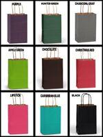 "ROSE SIZE Paper Party Gift Bags 5-1/2""x3-1/4""x8-3/8"" Choose Color & Quantity"