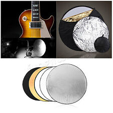 60cm 5 in 1 Photo Multi Reflector Panel Bag Photography Collapsible Disc Light