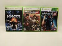 Mass Effect Trilogy 1 2 & 3 Xbox 360 Game Collection Bundle Lot 5 Disc Set