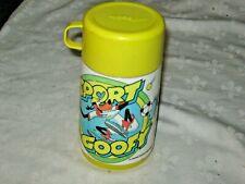 Vintage 1983 Walt Disney Prod. Sport Goofy Aladdin Pop Top Thermos Sipper & Cup