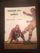 Football Program 1938 RPI Brooklyn College Troy NCAA Advertising VTG 80 Birthday