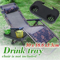 Folding Camping Outdoor Beach Garden Chair Clip On Tray For Drink Phone Holder..