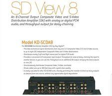 SD View 8-Channel Output Composite Video S-Video DA  Distribution Amplifier
