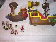 Disney Jake and the Neverland Pirates Ship Figures Toys lot
