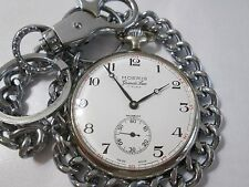 RARE VINTAGE MOERIS GRANDS PRIX pocket WATCH 17 RUBIS INCABLOC SWISS made 6497