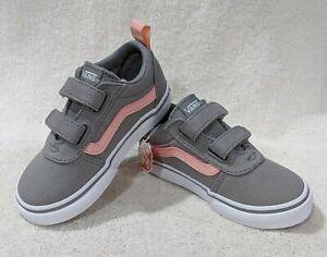 Vans Toddler Girl's Ward V Grey/Pink Skate Shoes - Size 6/7/8/9/10 NWB