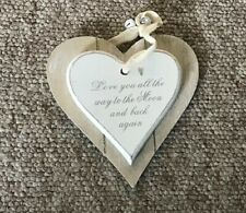 Wooden Heart Love You To The Moon And Back