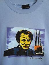 Drunknmunky T Shirt Mens size Large Sky Blue HAN Enter The Dragon New Original