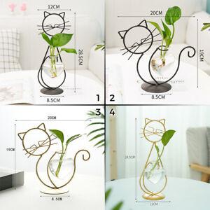 Creative Art Style Retro Iron Line Flowers Vase Metal Plant Pot Holder DIY Decor