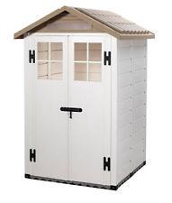 Casetta PVC box porta attrezzi con pavimento finestre giardino TUSCANY EVO-120
