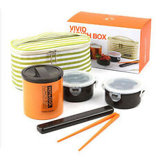 Lock & Lock Mice Insulated Stainless Steel Vivid Lunch Box Set 400ml LHC3070
