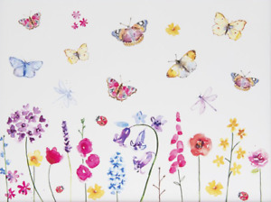 Country Life Butterfly Painting Canvas Print Wall Art - Various Size Options