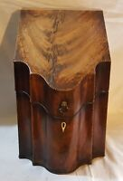 Mahogany wood vintage Georgian antique large cutlery box