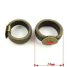 8pcs Antiqued Bronze Alloy Flexible Spring Rings Jewelry Findings 16*16mm 30167
