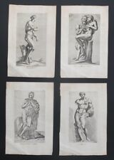 FRANCOIS PERRIER, 4 cuivre gravures Romain statues 1638