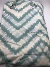 "Ellery Homestyles Grommet Thermal Lined Curtain - Green Ivory Tie Dye 52"" x 96"""