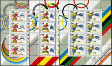 Russia 6023a-6025a M/S, MNH. Olympics, Barcelona. Canoeing, Running, Soccer,1991