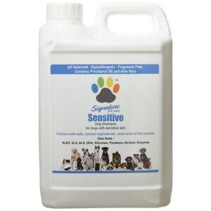 Signature Pet Care Sensitive Hypoallergenic Natural Dog Shampoo Concentrate 2.5L