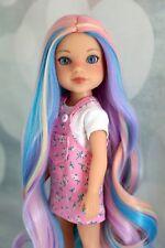 Pastel Rainbow Wellie Wisher Doll Wig Fits Heart4Heart Paola Reina doll 9''head