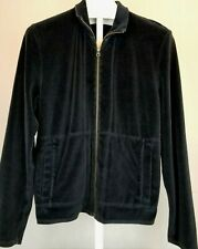 Earl Jean Charcoal Mens Size Large Velour Sweater  I0101-15