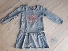ESPRIT Strickkleid Kleid grau mit Palietten Herz Gr. 104 Mädchen Top
