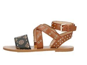 GUESS FL6CVELEA03 Sandale Stachel Schuhe Absatz Niedrig Leder Frau Schmuckstück