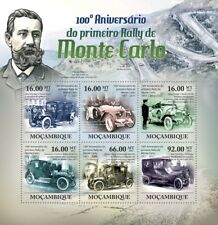 1911-2011 MONTE CARLO Car Rally Anniversary Race Stamp Sheet #1 (Mozambique)